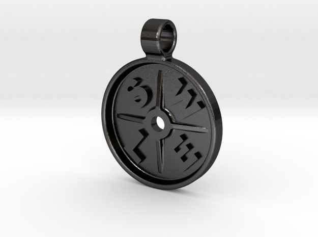 SWOLE Plate - Pendant Small in Polished Grey Steel