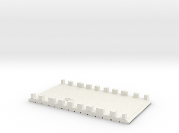 E-165-middle-barrow-crossing-long-1a in White Natural Versatile Plastic