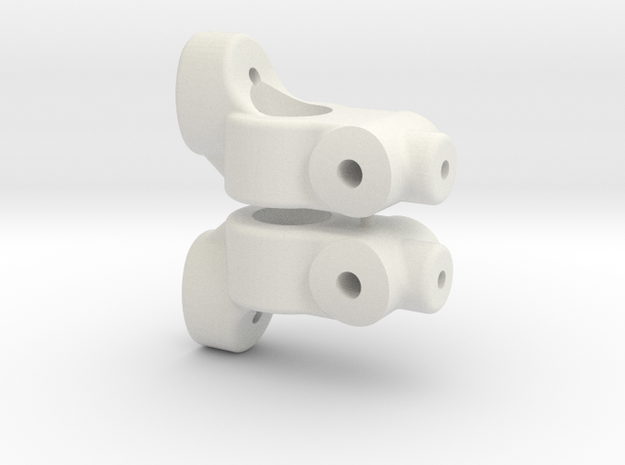 TC5 REAR HUB CARRIER - 0 DEGREE - INCH- CW HGT in White Natural Versatile Plastic