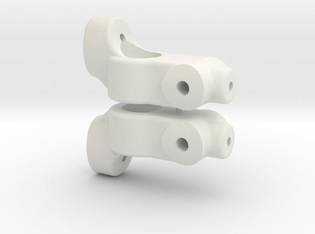TC5 REAR HUB CARRIER - 0 DEGREE - INCH in White Natural Versatile Plastic