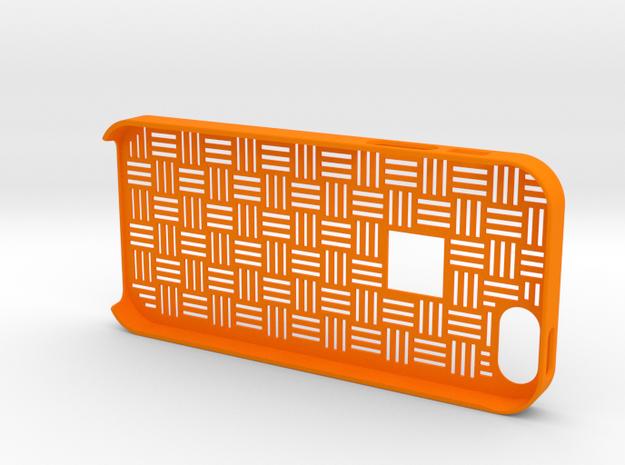 Japanese traditional pattern iPhone5/5S case in Orange Processed Versatile Plastic