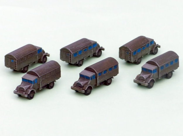 German Ford G 398 3to Truck (Box) 1/285 6mm in Smooth Fine Detail Plastic