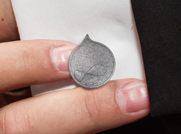 Drupal-cufflinks 3d printed Extra-close-up
