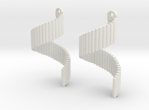 Pipe twist in White Natural Versatile Plastic