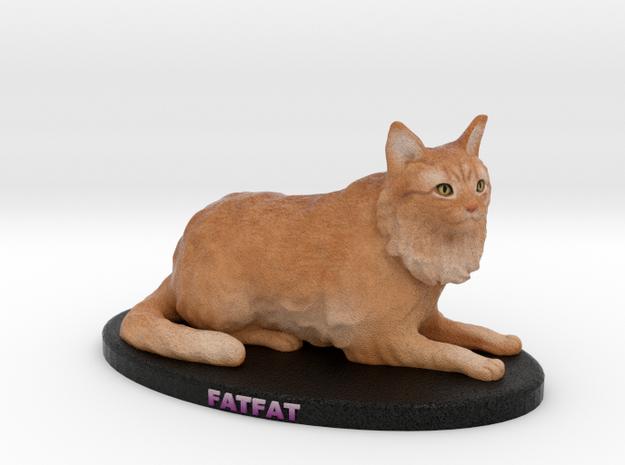 Custom Cat Figurine - Cesar in Full Color Sandstone