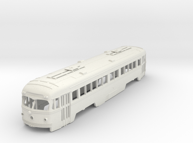 O Scale 1:48  Double-End PCC Red Arrow Trolley BOD in White Strong & Flexible
