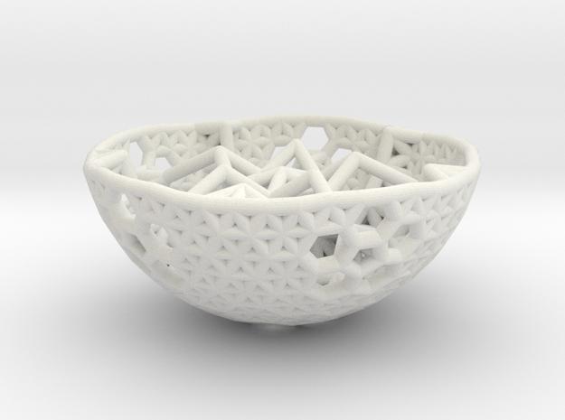 Cell Sphere 1 - Apple Star in White Natural Versatile Plastic