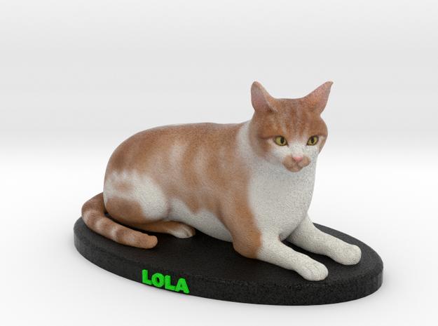 Custom Cat Figurine - Lola in Full Color Sandstone