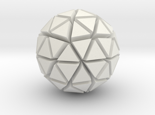 Tri-Ico-Sphere in White Natural Versatile Plastic