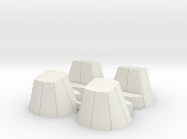 Ariane 4 PAL Skirts for the Heller kit in White Strong & Flexible