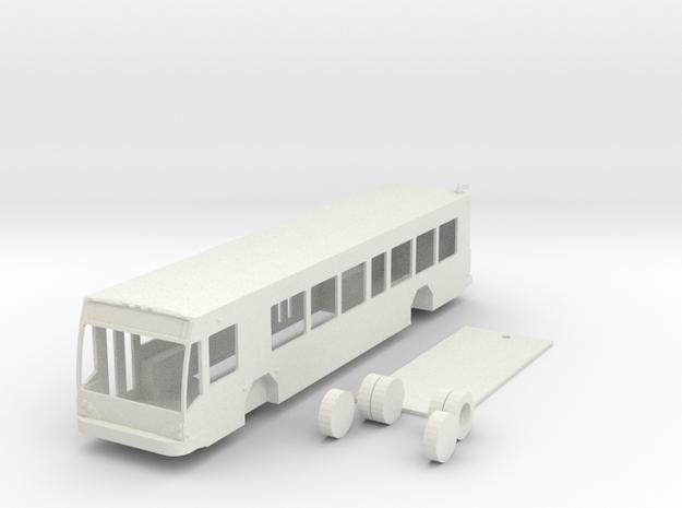 HO scale Gillig low floor BRT bus in White Natural Versatile Plastic