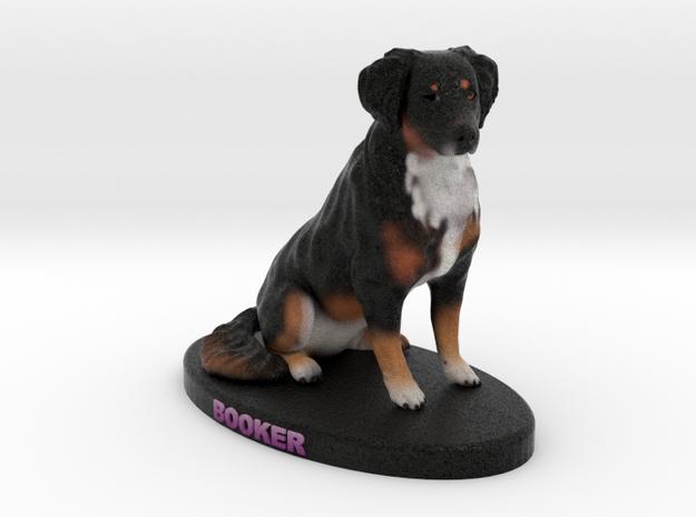 Custom Dog Figurine - Booker in Full Color Sandstone