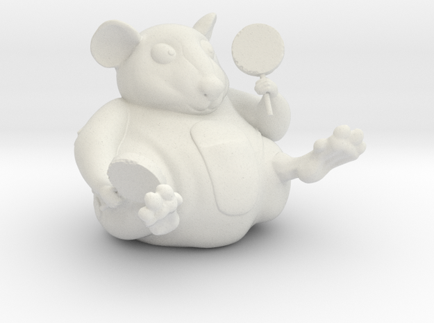 The Candy Mouse Color Version in White Natural Versatile Plastic