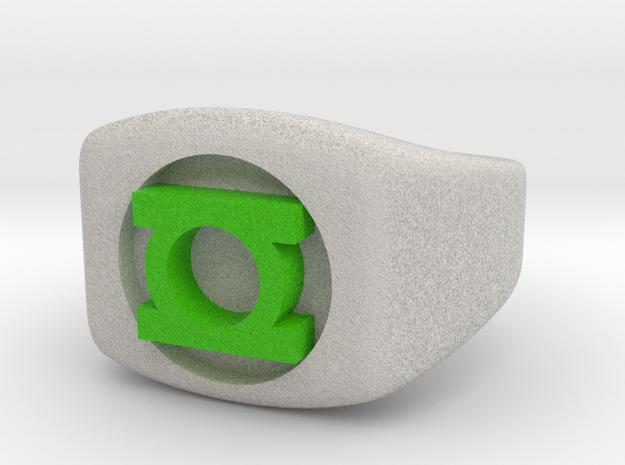 Green Lantern Ring Size 4.5 (kids size) in Full Color Sandstone
