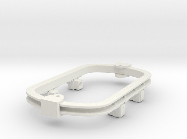1:35 or Gn15 small skip underframe hudson axlebox in White Natural Versatile Plastic