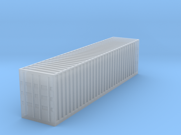 N Scale 40 FT Shipping Container in Smooth Fine Detail Plastic