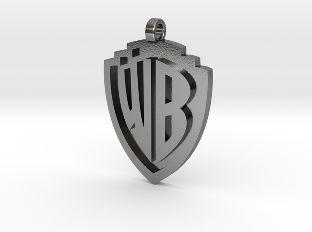 Warner Bros Pendant in Polished Silver
