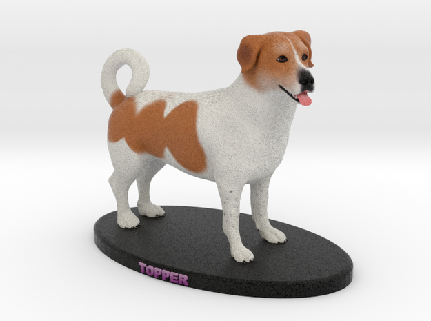 Custom Dog Figurine - Topper in Full Color Sandstone