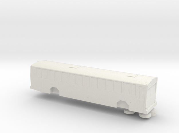 HO scale gillig phantom school bus (solid) in White Natural Versatile Plastic