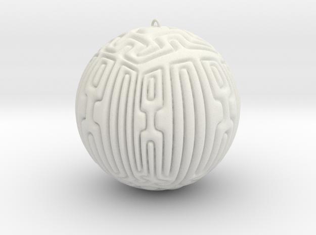 Christmas Tree Ornament #10 Smaller in White Natural Versatile Plastic