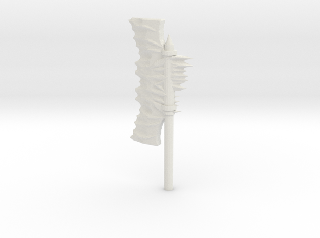 Daemonic Axe 03 Large in White Strong & Flexible: Large