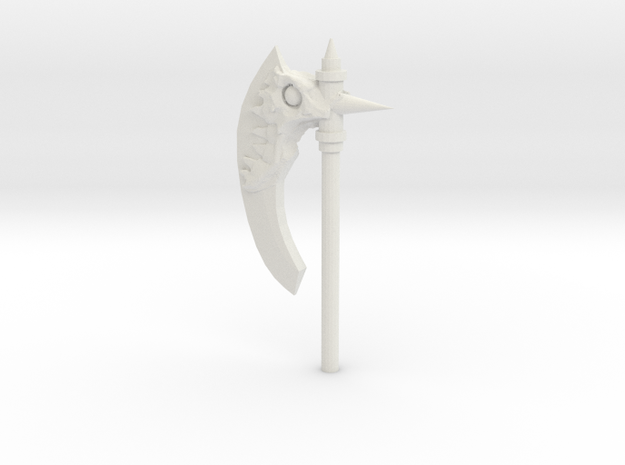 Daemonic Axe 04 Large in White Strong & Flexible: Large