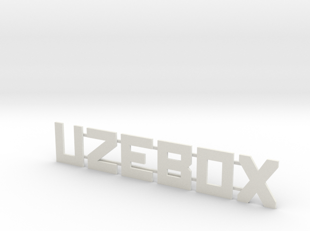 Uzebox Text in White Strong & Flexible