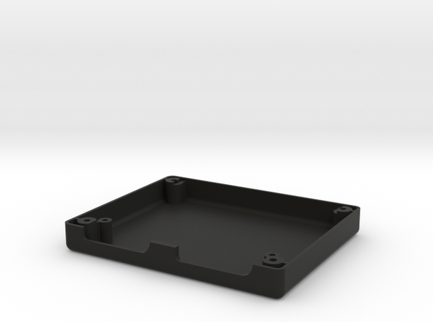 Uzebox Bottom Shell in Black Natural Versatile Plastic