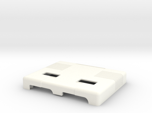 Uzebox Top Shell in White Processed Versatile Plastic