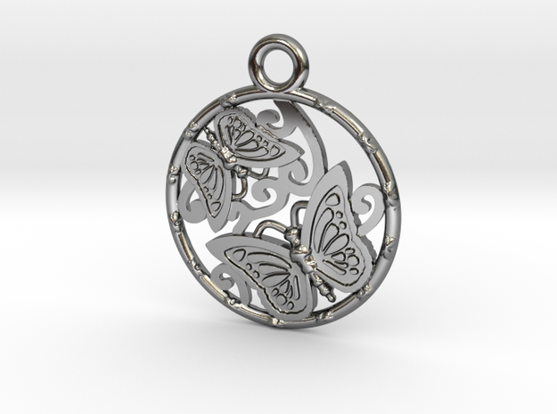 Duo butterfly in Fine Detail Polished Silver