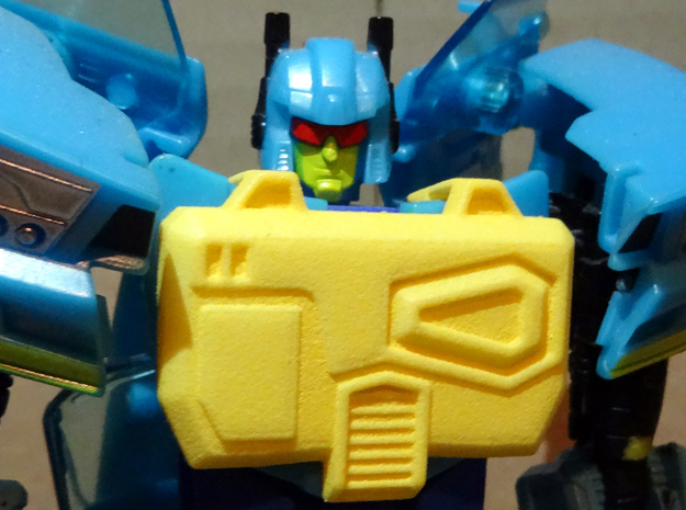 Gen. Nightbeat Upgrade Kit #3 - G1 Toy Chest in Yellow Strong & Flexible Polished