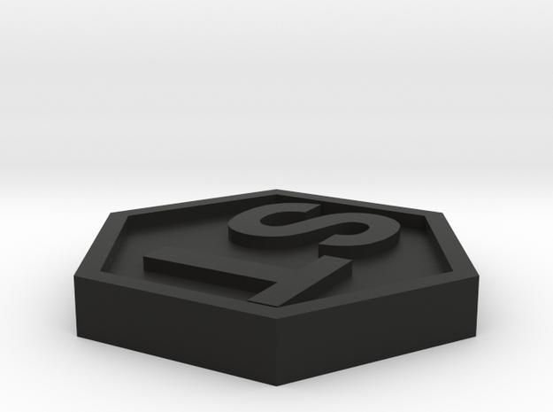 1 Token [ST] in Black Natural Versatile Plastic