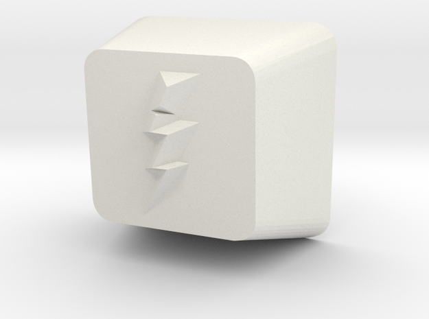 Lightning Bolt Cherry MX Keycap in White Natural Versatile Plastic