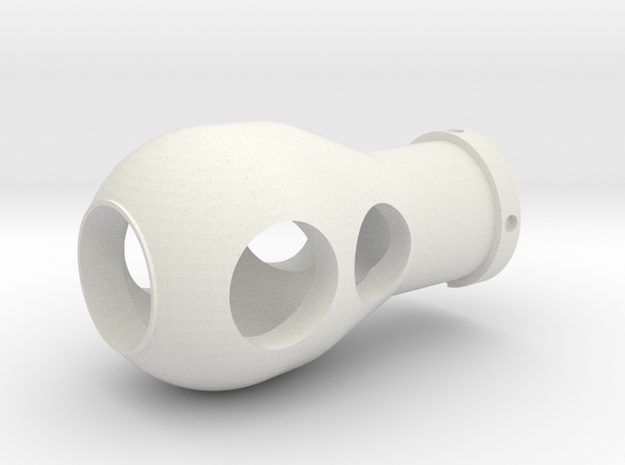 1/16 QF 17-pounder Muzzle Brake in White Natural Versatile Plastic