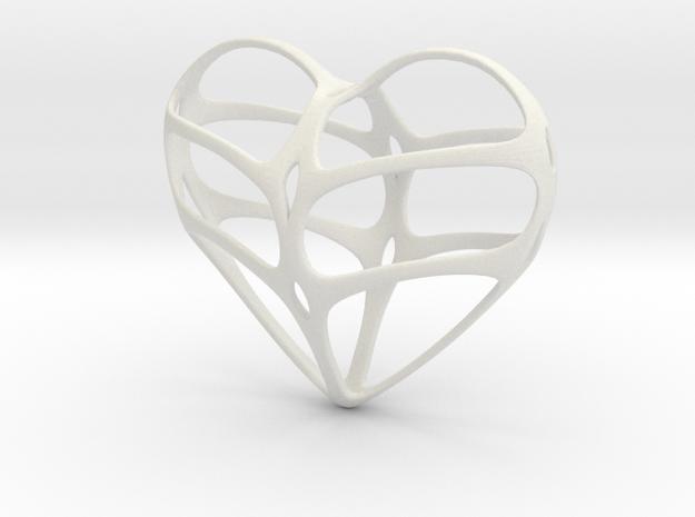 heart jewelry in White Natural Versatile Plastic