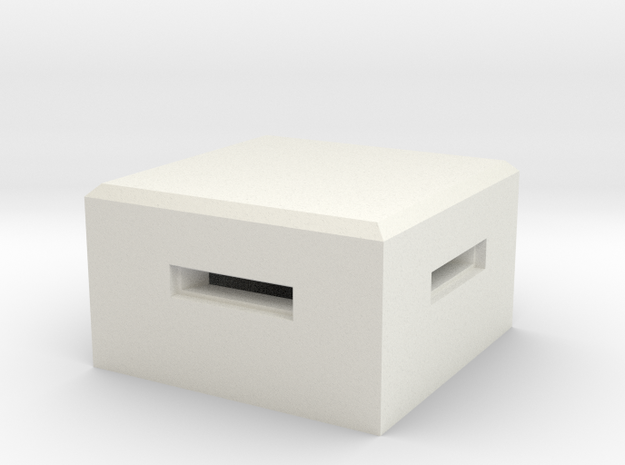 MG Pillbox 4 in White Natural Versatile Plastic