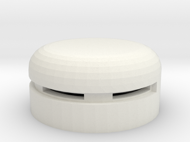 MG Pillbox 5 in White Natural Versatile Plastic
