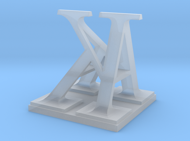 Two way letter / initial A&K 3d printed