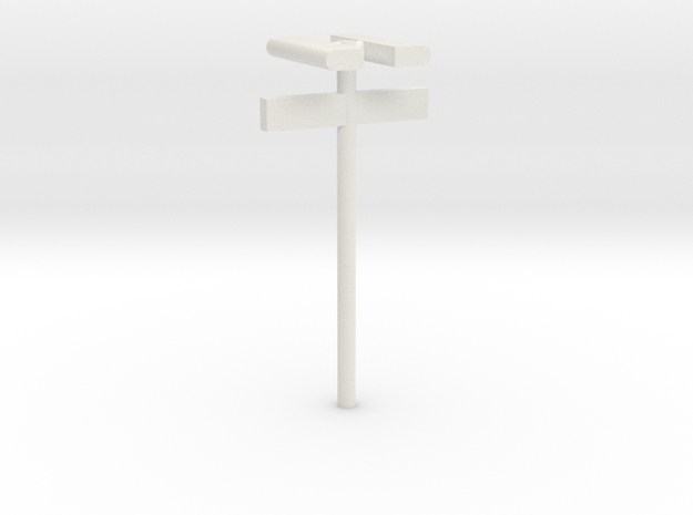1/160 - DSB Stations lampe (dobbelt) med billet sk in White Natural Versatile Plastic