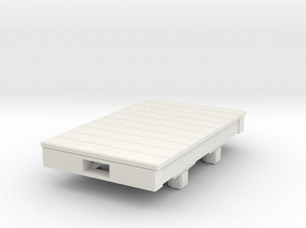 Gn15 Small 5ft flat wagon in White Natural Versatile Plastic