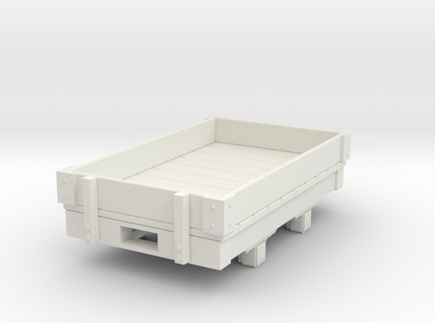 Gn15 small 5ft  1 plank wagon  in White Natural Versatile Plastic