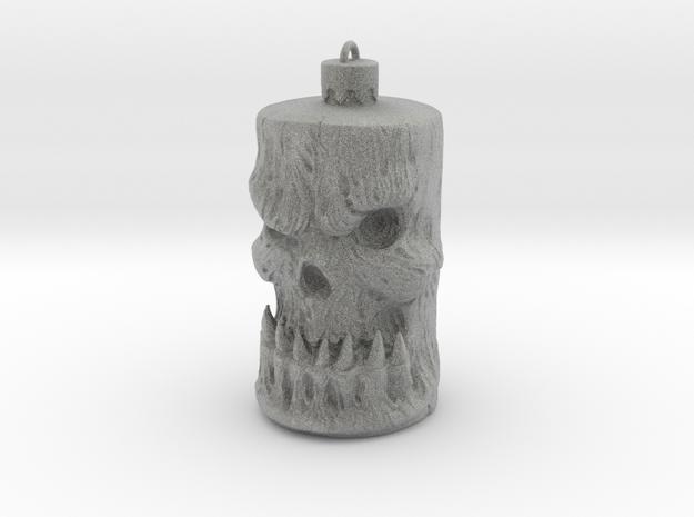 Skull Ornament in Metallic Plastic