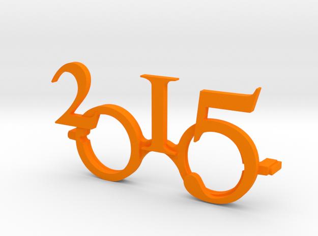 """""""2015""""Frame front. in Orange Processed Versatile Plastic"""