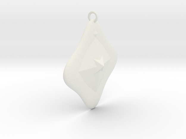 Pendant Light Star Style  in White Natural Versatile Plastic