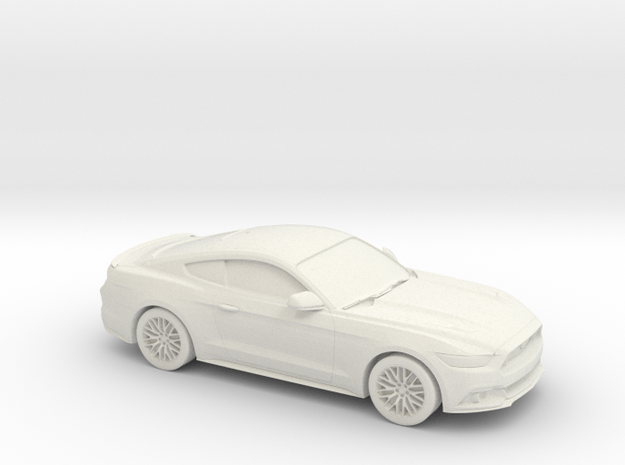 1/87 2015 Ford Mustang GT in White Natural Versatile Plastic