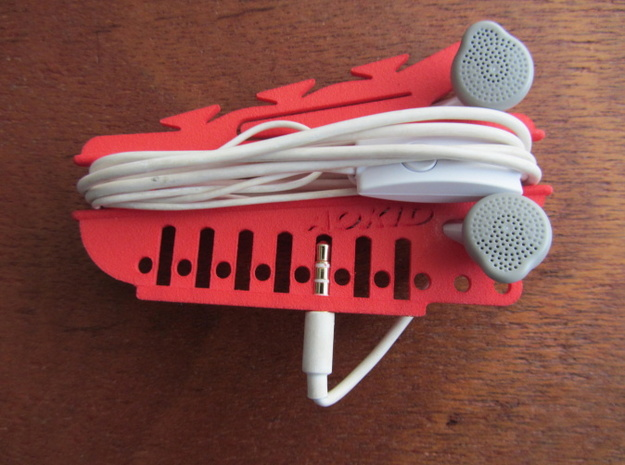 earphone storage3 3d printed