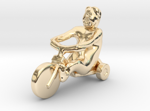 I want to ride Un Bicycle in 14K Yellow Gold