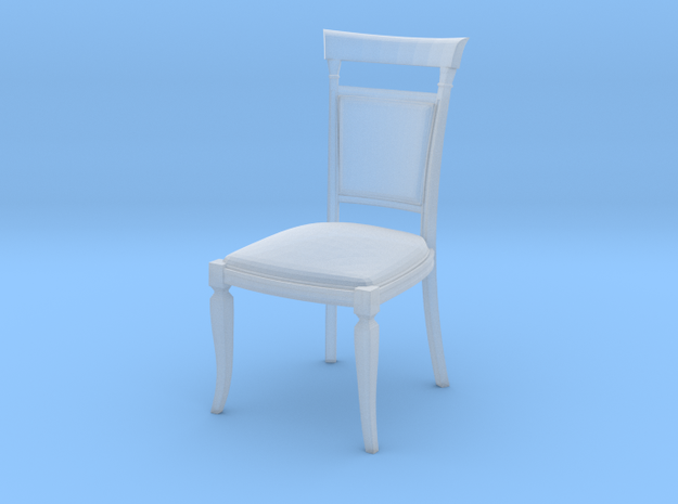 Miniature 1:48 Dining Chair in Smooth Fine Detail Plastic