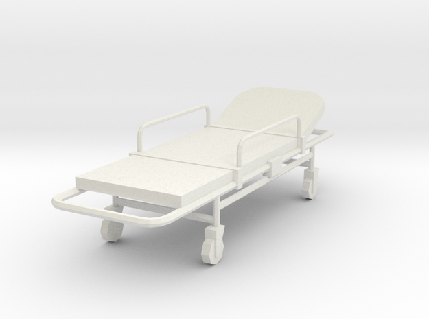 Miniature 1:24 Bed Gurney 3d printed