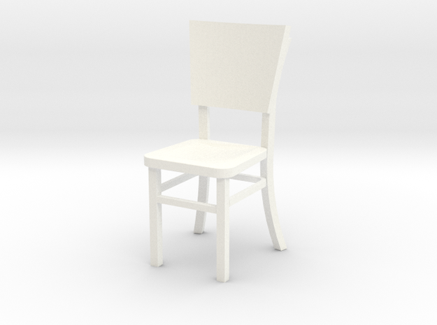 Miniature 1:24 Cafe Chair 3d printed